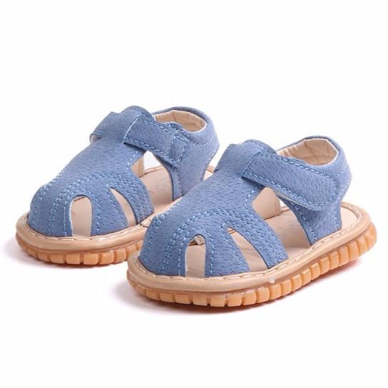 發聲童鞋現貨 寶寶涼鞋 嬰兒鞋軟底學步鞋 叫叫鞋 包頭軟底防滑童鞋男女童涼鞋 啾啾鞋 嬰兒鞋 寶寶鞋