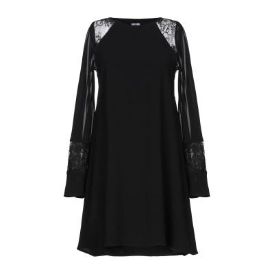 GIL SANTUCCI ミニワンピース&ドレス ブラック 40 ポリエステル 100% ミニワンピース&ドレス