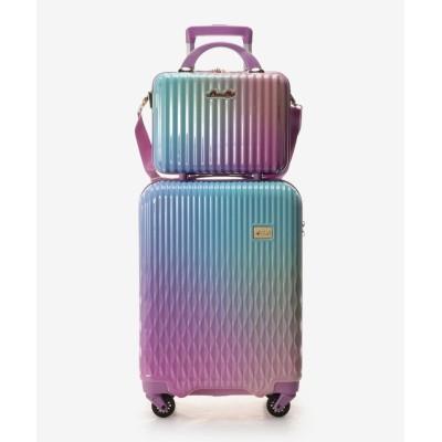 【アンドシュエット】 スーツケース≪Lunalux≫ 小 レディース ブルーパープル FREE & chouette