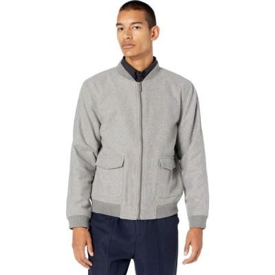 ネイティブユース NATIVE YOUTH メンズ ブルゾン ミリタリージャケット アウター Luther Wool Bomber Jacket Grey