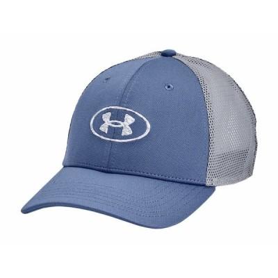 アンダーアーマー 帽子 アクセサリー メンズ Blitzing Trucker Mineral Blue/Mod Gray