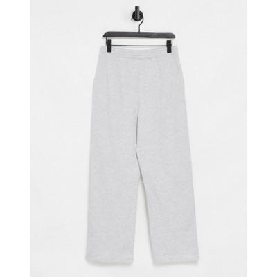 エイソス レディース カジュアルパンツ ボトムス ASOS DESIGN lounge straight leg sweatpants in gray heather Grey