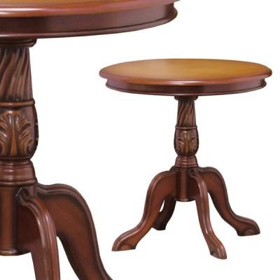 センターテーブル カフェテーブル 円形 丸形 ラウンドテーブル ブラウン 28571