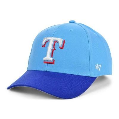 47ブランド 帽子 アクセサリー レディース Texas Rangers On Field Replica MVP Cap LightBlue/RoyalBlue