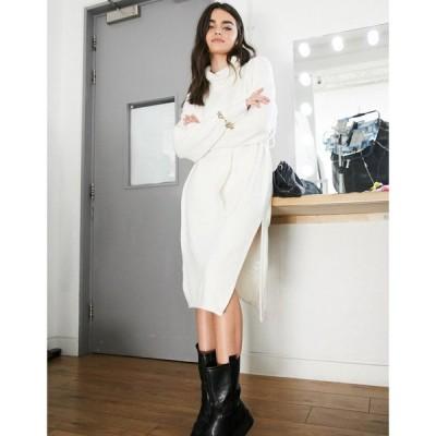 アンドアザーストーリーズ & Other Stories レディース ワンピース ワンピース・ドレス High Neck Knitted Dress In Off White オフホワイト