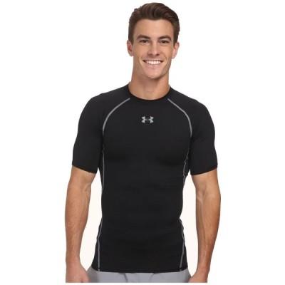 アンダーアーマー Under Armour メンズ Tシャツ トップス Armour Heatgear S/S Tee Black/Steel