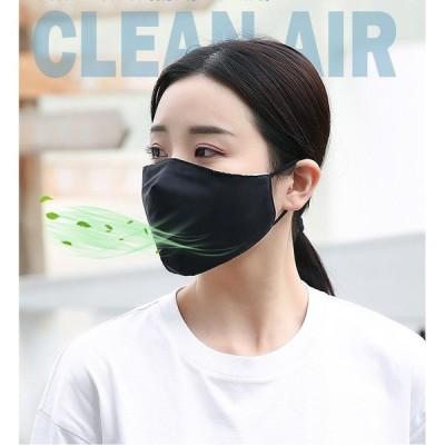 布マスク 4枚セット 洗える 抗菌 防汚 UVカットマスク 夏用マスク ひんやり 接触冷感 立体 UVカット 大人用 男女兼用 ウィルス対策 花粉 飛沫防止 防塵 風邪