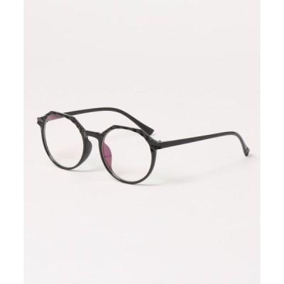 メガネ 【urge】 クリスタルカット フレーム 伊達メガネ