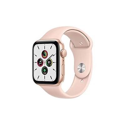 【送料無料】New Apple Watch SE (GPS, 44mm) - Gold Aluminum Case with Pink Sand Sport Ba