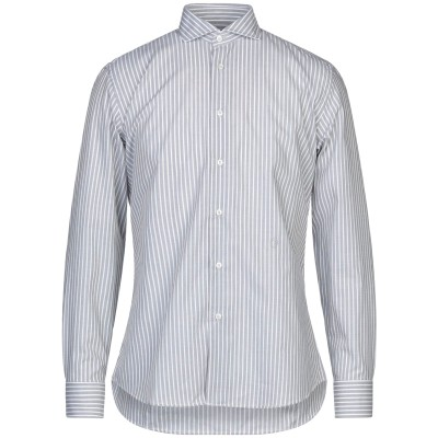 TRU TRUSSARDI シャツ 鉛色 38 コットン 100% シャツ