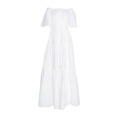 ISABEL GARCIA ロングワンピース&ドレス ホワイト XS コットン 100% / ポリエステル ロングワンピース&ドレス