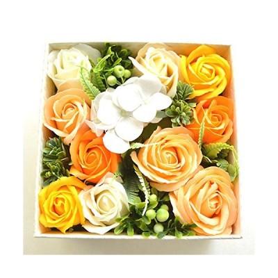 フレグランス ソープフラワー ギフト [スクエアボックス] シャボンフラワー ソープ フラワー アレンジ 石鹸 花