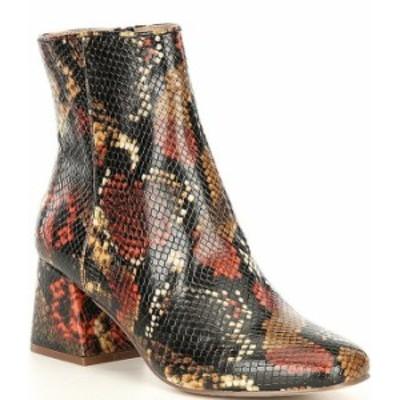 スティーブ マデン レディース ブーツ・レインブーツ シューズ Darma-P Snake Print Block Heel Booties Multi Snake