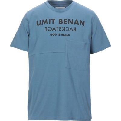 ウミット ベナン UMIT BENAN メンズ Tシャツ トップス t-shirt Pastel blue