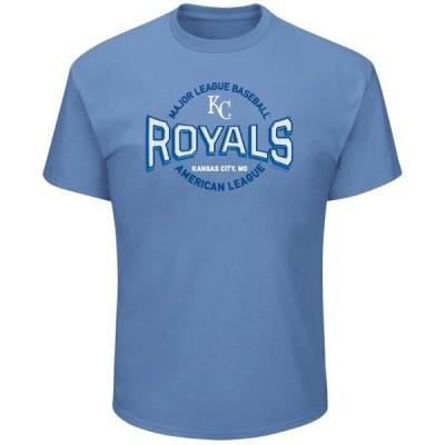 メンズ スポーツリーグ メジャーリーグ Men's Majestic Light Blue Kansas City Royals Beat 'Em T-Shirt Tシャツ