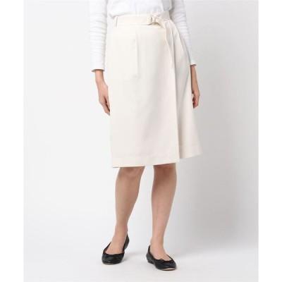 スカート ラップ風ナロースカート