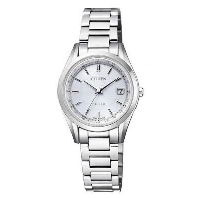 シチズン腕時計ソーラー電波時計 エクシードレディスダイレクトフライト針表示式ES9370-54A