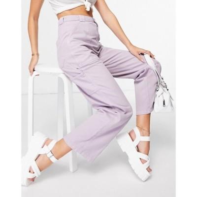 トップショップ Topshop レディース ボトムス・パンツ ワークパンツ carpenter trouser with seam detailling in lilac ライラック