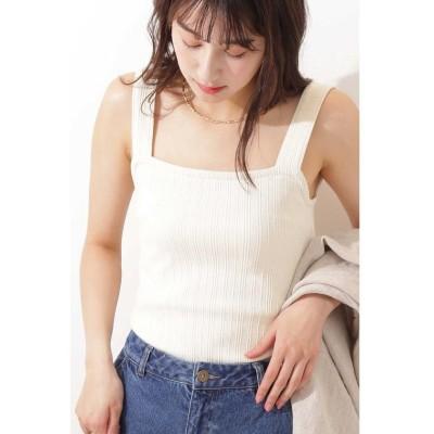 【エヌナチュラルビューティベーシック】 リブタンクトップ レディース エクリュ1 M N.Natural Beauty Basic