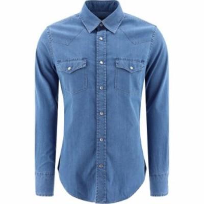 トム フォード Tom Ford メンズ シャツ デニム トップス Denim Shirt Light Blue