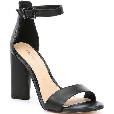 ジアーニビニ レディース サンダル シューズ Joenah Two Piece Ankle Strap Block Heel Dress Sandals Black