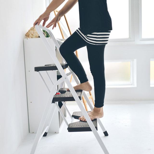 《舒適屋》簡約可折疊三層家用梯/A字椅/樓梯椅