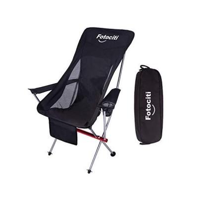 FOTOCITI アウトドア チェア キャンプ 椅子 イス 折り畳み ハイバック 耐荷重150kg 超軽量 ソロキャンプ