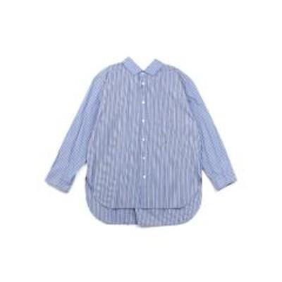 ジムフレックスジムフレックス オーバーサイズシャツ Gymphlex J-1355MUP 14(M/L) G.BLUE×ROYAL BLUE(GYRO)