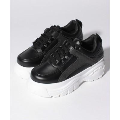 【シュークロ】 厚底スニーカー レディース ブラック/ホワイト XS Shoes in Closet