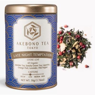 レイト ナイト テンプテーション 50g 缶 茶葉 オーガニック 有機 低カフェイン ラベンダー 日本茶 緑茶 国産 煎茶 ハーブティー 紅茶 おしゃれ かわいい ギフト
