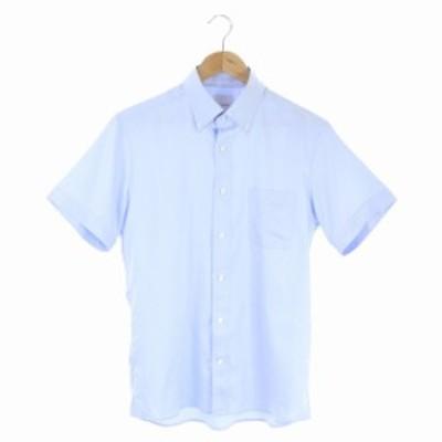 【中古】マッキントッシュフィロソフィー シャツ 半袖 ボタンダウン ヘリンボーン 40 ライトブルー