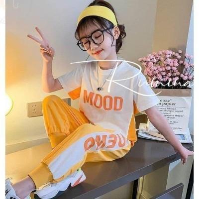 子供服 セットアップ キッズ 女の子 半袖 2020春夏 2点セット 上下セット Tシャツ 薄手 ハーフパンツ おしゃれ カジュアル 涼しい 可愛い ジャージ 新品
