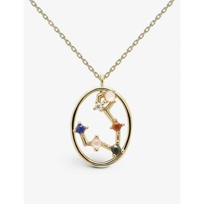 ピーディーパオラ PD PAOLA レディース ネックレス ジュエリー・アクセサリー Zodiac Pisces 18Ct Gold-Plated Sterling Silver And Gemstone Necklace GOLD
