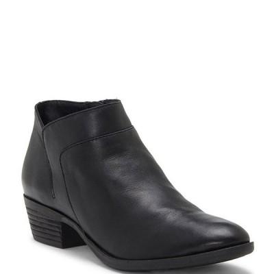 ラッキーブランド レディース ブーツ・レインブーツ シューズ Brintly2 Leather Side Zip Block Heel Booties