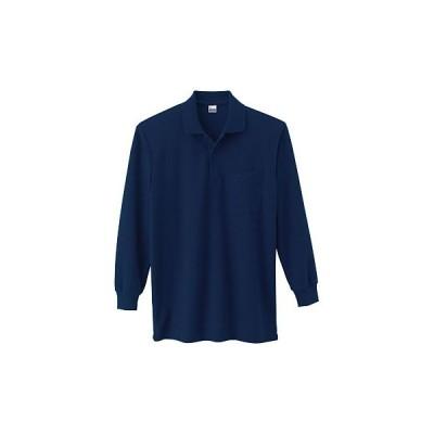 5.8オンス VLP TC長袖ポロシャツ(ポケット付) Printstar 00169-VLP ネイビー/M