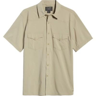 フィルソン FILSON メンズ 半袖シャツ トップス Twin Lakes Short Sleeve Snap Front Shirt Dry Grass