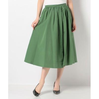 【マリンフランセーズ】 カラーボトムスギャザースカート レディース グリーン 1 LA MARINE FRANCAISE