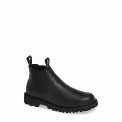 アリアト ブーツ Spothog Chelsea Boot Black Deer Tan Leather