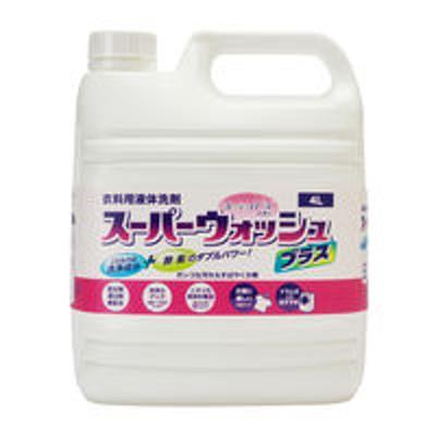 ミツエイ衣料用液体洗剤 スーパーウォッシュプラス 業務用4L