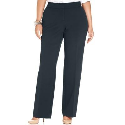 ジェイエムコレクション カジュアルパンツ ボトムス レディース Plus & Petite Plus Size Curvy-Fit Straight-Leg Pants Intrepid Blue