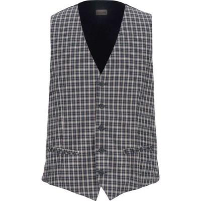トゥエンティ ワン TWENTY-ONE メンズ ベスト・ジレ トップス suit vest Dark blue
