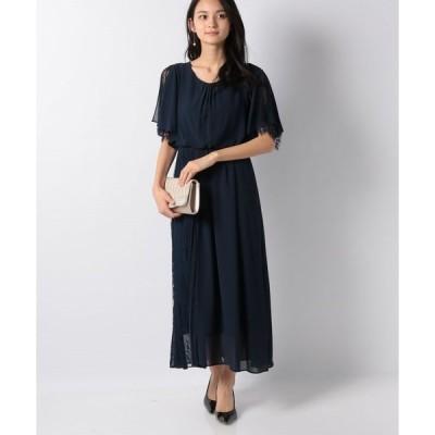 【エイミーパール(ドレス)】フレア袖サイドレース付きドレス