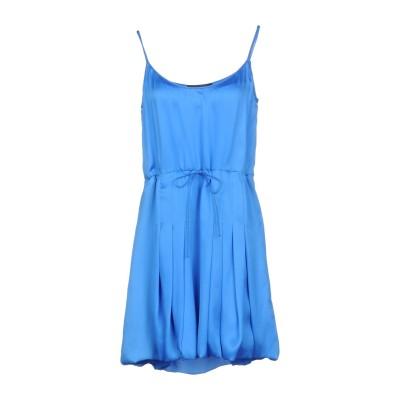 ディースクエアード DSQUARED2 ミニワンピース&ドレス ブルー 38 シルク 100% ミニワンピース&ドレス