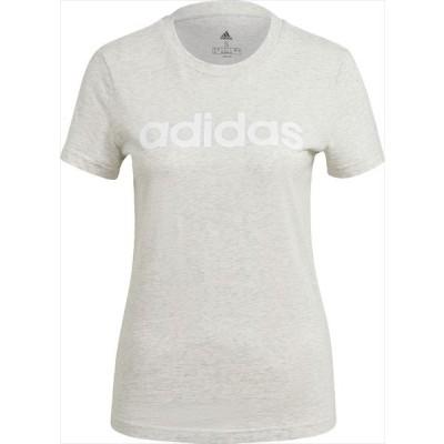 [adidas]アディダス レディース W ESS LIN Tシャツ (28869)(GL0770) オフホワイトメランジ/ホワイト[取寄商品]