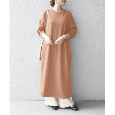 SHIPS for women/シップスウィメン SHIPS any: 裏毛 コクーン ワンピース ピンク ONE SIZE