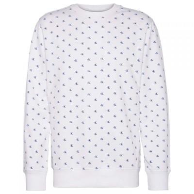 カルバンクライン Calvin Klein Jeans メンズ スウェット・トレーナー トップス Mono AOP Crew Sweatshirt CK AOP