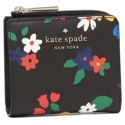 【返品OK】ケイトスペード アウトレット 二つ折り財布 ステイシー ブラックマルチ レディース KATE SPADE WLR00422 098