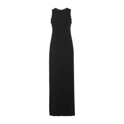 NINA RICCI ロングワンピース&ドレス ブラック 36 100% レーヨン ロングワンピース&ドレス
