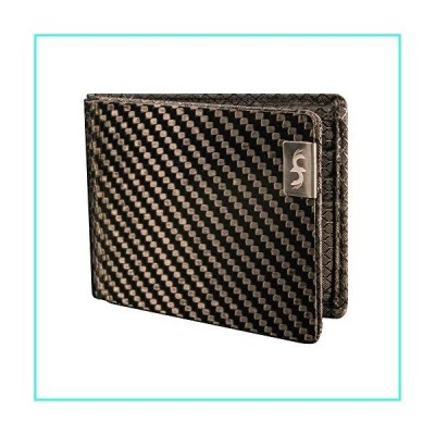 【新品】Common Fibers MAX - Real Carbon Fiber RFID Blocking Slim Bifold Mens Wallet with Twill Weave(並行輸入品)