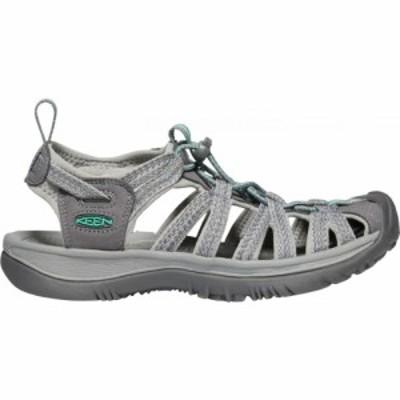 キーン Keen レディース サンダル・ミュール シューズ・靴 KEEN Whisper Sandals Medium Grey/Green